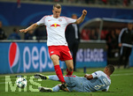 13.09.2017, Fussball UEFA Champions League 2017/2018,  Gruppenphase, 1.Spieltag, RB Leipzig - AS Monaco, in der Red Bull Arena Leipzig. v.l. Lukas Klostermann (RB Leipzig) gegen Jorge (AS Monaco)