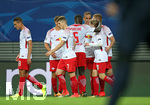 13.09.2017, Fussball UEFA Champions League 2017/2018,  Gruppenphase, 1.Spieltag, RB Leipzig - AS Monaco, in der Red Bull Arena Leipzig. Jubel RB Leipzig zum Tor zum 1:0
