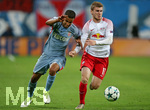 13.09.2017, Fussball UEFA Champions League 2017/2018,  Gruppenphase, 1.Spieltag, RB Leipzig - AS Monaco, in der Red Bull Arena Leipzig. v.l. Jorge (AS Monaco) gegen Timo Werner (RB Leipzig)