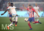16.05.2018,  Fussball UEFA Europa-League Finale 2018, Olympique Marseille - Atletico Madrid, im Parc Olympique Lyonnais. v.l. Andre Zambo Anguissa (Olympique Marseille) gegen Koke (Atletico Madrid)