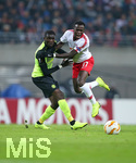 25.10.2018, Fussball UEFA Europa League 2018/2019, Gruppenphase, 3.Spieltag, RB Leipzig - Celtic Glasgow, in der Red Bull Arena Leipzig. (L-R) Eboue Kouassi (Celtic Glasgow) gegen Bruma (RB Leipzig)