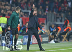 06.11.2019, Fussball UEFA Champions League 2019/2020, Gruppenphase, 4.Spieltag, Bayer 04 Leverkusen - Atletico Madrid, in der BayArena Leverkusen. Trainer Diego Simeone (Atletico Madrid)